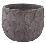 Carved Lotus Petal Pot - Wide *