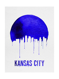 Kansas City Skyline Blue