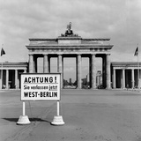 East-West Berlin Border 1961