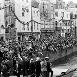 Queen Elizabeth Ii at St Peter Port in Guernsey 1957
