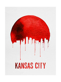 Kansas City Skyline Red