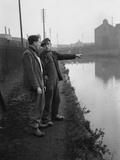 The Manure lock basin at Wolverhampton  1950