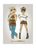 Tiger and Leopard in Swag Style