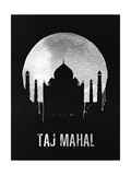 Taj Mahal Landmark Black
