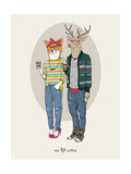Fox Girl and Deer Boy Hipsters