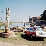 Triumph Herald Car on Norfolk Coastline  1966