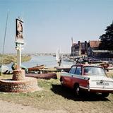 Triumph Herald Car on Norfolk Coastline  1966