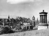 A view of Edinburgh showing the Castle  June 1947