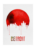 Detroit Skyline Red