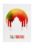 Taj Mahal Landmark Red