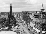 Aerial view of Princes Street in Edinburgh