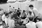 England Players Enjoy Game of Cards  1966