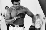 Muhammad Ali the Gym Ahead of His Clash with Smoking Joe Frazier