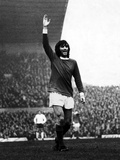 Manchester United Footballer George Best Celebrates after Scoring 1971