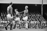 Denis Law appeals decision during Arsenal v Manchester United game 1965