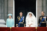 Prince Charles and Lady Diana Spencer with Queen Elizabeth Ii and Prince Philip  Buckingham Palace
