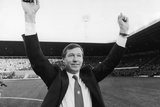 New Manchester United Manager Alex Ferguson at Old Trafford 1986