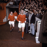 Bobby Charlton Leads Manchester United Team onto the Pitch