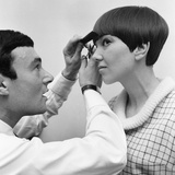 Mary Quant Having Hair Done by Vidal Sassoon 1964