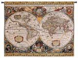 Antique Map Geographica Large Wall Tapestry