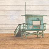 Lifeguard House on Wood