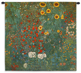 Farm Garden with Sunflowers  c1912 Wall Tapestry