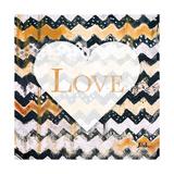 Love and Peace Square I Giclée premium par Patricia Quintero-Pinto