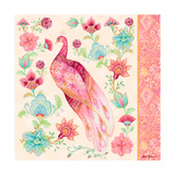 Pink Medallion Peacock II