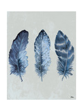 Indigo Blue Feathers I