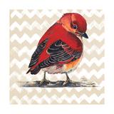 Chevron Baby Red Bird I Giclée premium par Patricia Pinto