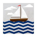 Chevron Sailing I Reproduction d'art par SD Graphics Studio
