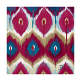 Red Tropical Ikat II