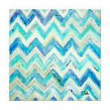 Blue Zig Zag Reproduction d'art par Patricia Pinto