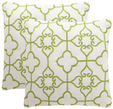Nadia Pillow Pair - Sweet Green