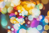 Abstract Texture, Light Bokeh Background Papier Photo par Maximusnd