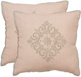 Penelope Pillow Pair - Blush Pink *