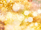 Festive Background with Natural Bokeh and Bright Golden Lights. Vintage Magic Background with Color Papier Photo par Maximusnd