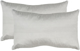 Luster Pillow Pair - Silver