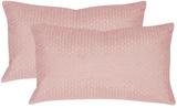 Box Stitch Pillow Pair - Pink