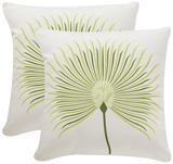 Leste Verte Silky Pillow Pair - Cream