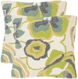 Jacobean Floral Pillow Pair - Lime