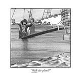 """Walk the plank!"" - Cartoon"