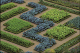 Cabbages and Chard Planted in Patterns in the Great Potager at the Chateau De Villandry  France