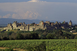 Medieval Hilltop Old Town Fortress in Carcassonne  Department Aude  South of France