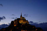 Mont Saint Michel Is a Tidal Island in Normandy  Approximately One Kilometre Off the French Coast