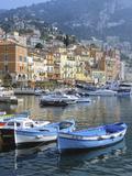 Cote D'Azur  Villefranche-Sur-Mer  View on Town and Port