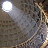 Pantheon  Rome Shaft of Sunlight Through Oculus in Dome