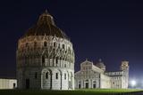 Baptistery (Battistero Di San Giovanni)  Duomo and Leaning Tower of Pisa  Piazza Dei Miracoli  Ital
