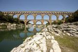 Roman Aqueduct  Vers-Pont-Du-Gard  Languedoc  France
