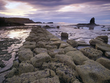 Saltwick Bay Is South of Whitby and the Distinctively Shaped Black Nab Rock